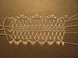 Имитация кружев с помощью вышивки на швейной машинке