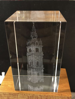 Bloc en cristal Beffroi - 55€