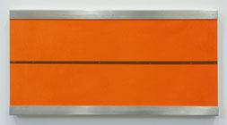 Matthieu van Riel. Zonder titel 25,3x50cm acryl en metaal op canvas 2005
