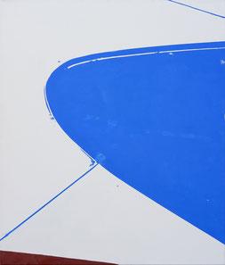 Matthieu van Riel Schilderijen. Curve in landschap 100x85cm olie op canvas 2018