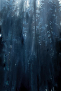 Matthieu van Riel Schilderijen. Wald Empfindung (3) 162x106cm acryl en olie op canvas 2017