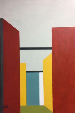 Farbräume 16, Acryl, 2019, 60 x 40 cm