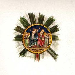 l'Incoronazione della Vergine tra gli angeli, chiave di volta della navata centrale