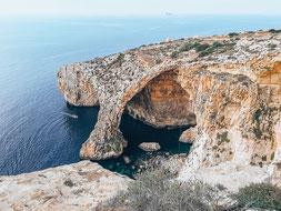 Blue Hole in Malta