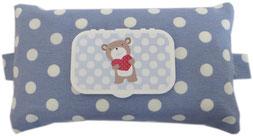 Babytücher Box Tasche Hülle Stoff Feuchttücher Geschenk Geburt Junge Feuchttücherbox