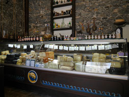 Special Naxos cheese shop in Naxos Chora