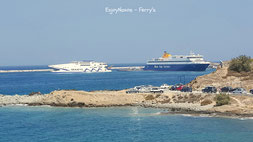An ferry to Naxos Greece - met de ferry naar Naxos island