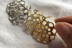 crochet motif LOTUS earrings