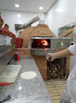 Four pizza au bois
