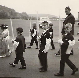 Kommunion 1965 - Arend Claude - Roby Hentzig & Roger Biever (Lehrer)