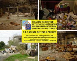 Désinfection d'un local à archives après débarras et nettoyage