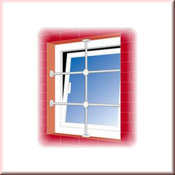 Burgwächter Fenstergitter schützen Ihre Fenster effektiv. Montage & Einbau Ihrer Fenstergitter…  – sichern Sie Ihre Keller- und Erdgeschossfenster! Fenstergitter können auf die Breite des zu schützenden Fensters angepasst werden. Montagebespiel_01