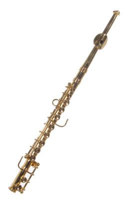Querflöte, musikinstrument christbaumschmuck musikgirlande