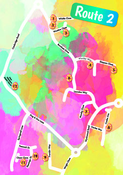 Map of Easter Egg hunt route