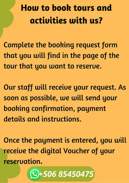 Steps to reserve tour and vacation package