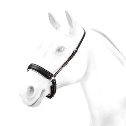 """BR59:Weiß unterlegtes Dressur- Reithalfter """"anti-pressure"""". Verfügbar in verschiedenen Farbkombinationen. anti druck, BR59, dressur, pferd, reithalfter, rose, trensezäume"""