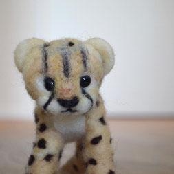 Babygepard, Filzgepard, Filztier, Filztiere, Gepard aus Filz, Filzfigur, Nadelgefilzt, Nadelfilzen, Filzen