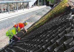 Geoweb protection de talus