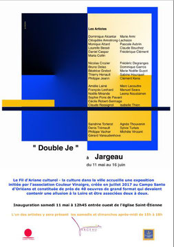 Claude Rossignol - Affiche Expo Jargeau 2019