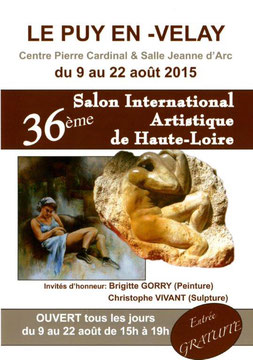 Claude Rossignol - Affiche 36è Salon International Artistique de Haute-Loire 2015