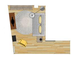 Atelier sur les toits décoration chambre et salon