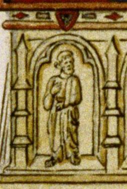 Frère Jean de Dreux sur le tombeau de Marie de Bourbon-Dampierre.