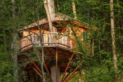 Aussenansicht Baumhaushotel Seemühle