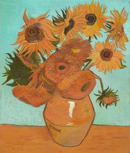 Vase with Twelve Sunflowers, Vincent Van Gogh oil on canvas, 50x60 cm, 2014