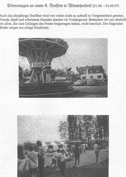 Bild: Wünschendorf Erzgebirge Dorffest 1997