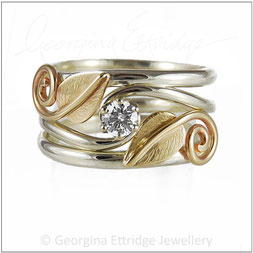Woodland Wedding Ring Leaves Set