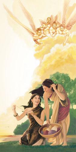 Justin pense, comme l'enseigne le livre d'Enoch, que les démons sont les âmes immortelles des Néphilims, hybrides entre des anges matérialisés et des femmes, qui répandent le mal sur la terre.