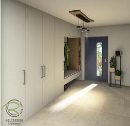 CAD-Planung für Inneneinteilung Einbaugarderobe