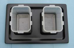 Vassoio con inserite le due vaschette per Generatore Look
