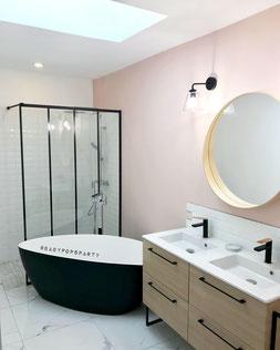 Salle de bain Pink - Bordeaux