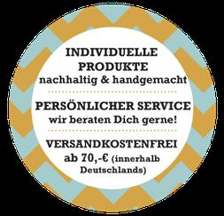 IndividuelleProdukte, persönlicher Service, versandkostenfrei ab 70 Euro