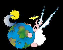 Sharpie mit Weltkugel als Vektorengrafik