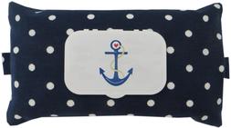 Feuchttüchertasche Navy dunkelblau Punkte