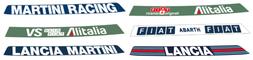 stickers sun viso adhesive rally cars lancia delta martini racing fiat abarth shop