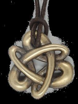 Schmuck - Anhänger aus Bronze. Bronzeschmuck. Knotenförmiger Bronzeschmuck. Meisterhafte Verarbeitung.