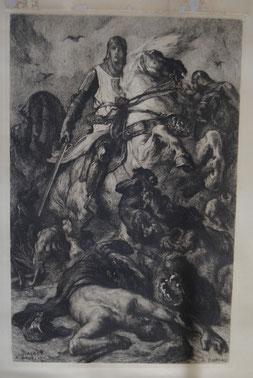 Gilles de Chin - Collection privée - Gravure/reproduction de l'original présent à l'Hôtel de Ville de Mons