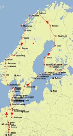 Karte Norwegen Dänemark.2017 Finnland Norwegen Dänemark Reiseviruss Webseite