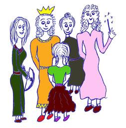Gruppe weiblicher Archetypen