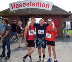 Alexander Haase, Dennis Meyer und trainer Torsten Koch (zum Vergrößern auf das Bild klicken)