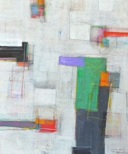 通り過ぎる風景 No.4 (2015)      アクリル / 46x38cm