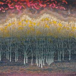 赤い風 (1990) -部分-  木版画16版32度摺