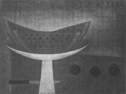 西瓜二切 (1954)  29.5x39.0cm / ed.50