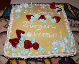 Geburtstagstorte zu 20 Jahre BVA Jahr 2011