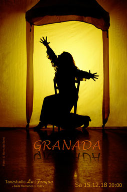 "Titelfoto zur Flamenco-Aufführung ""GRANADA"" am 15.12.18 im Tanzstudio La Fragua in Bonn / Color-Foto by Boris de Bonn"