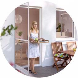 Fliegengittertüre für Balkon- und Terrassentüren