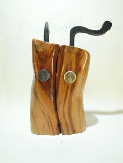 Pfeffer- Salzmühlenset mit handgeschmiedeter Kurbel